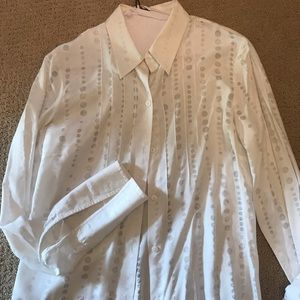 Kenneth Cole white button up blouse